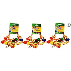 Wild Harvest Sunrise Rope Toy for Parakeets, Cockatiels, Finches - Pack of 3