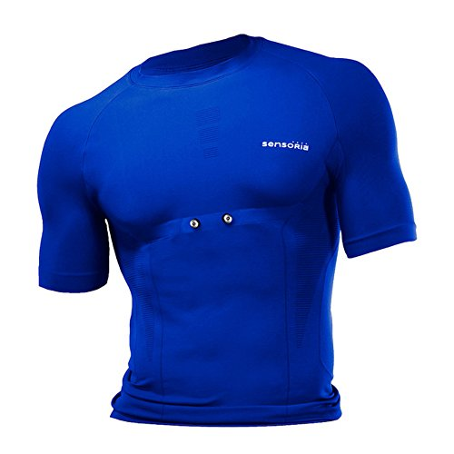 Sensoria Fitness Men's Short Sleeve T-Shirt, Blue, Medium
