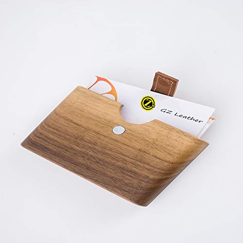 d Holder, Professional Brown Walnut Desktop Organizer Single Name Cards Stand 1 Pack ()