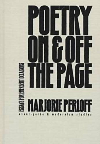 poetry on & off the page essays for emergent occasions Pat aufderheide, center for media & social impact, american university  katharine coles, harriet monroe poetry institute, the poetry foundation peter  jaszi.