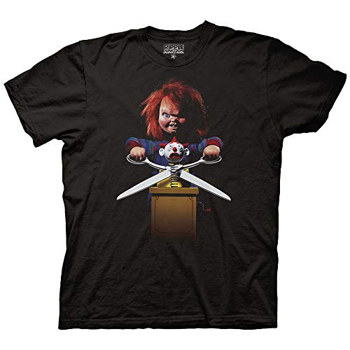 Ripple Junction Chucky Adult Unisex Childs Play 2 Poster Light Weight 100% Cotton Crew T-Shirt SM Black
