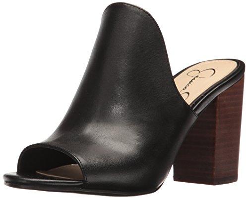 Jessica Simpson Women's Rainn Heeled Sandal, Black, 7.5 Medium (Jessica High Heel Sandals)