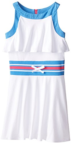 Tommy Girl Big Girls' Faux Cropped Dress, White, Small