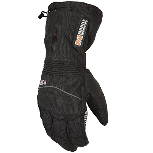 Mobile Warming TX Womens Black Heated Motorcycle Gloves - X-Small
