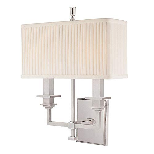 - Hudson Valley Lighting 242-PN Berwick Collection - Two Light Wall Sconce, Polished Nickel Finish