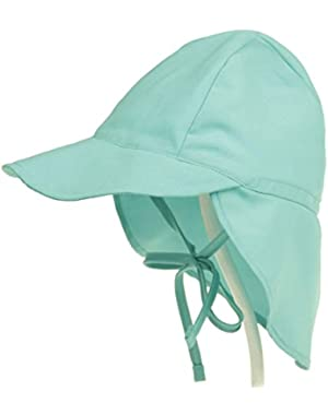 Kids Sun Hat, Boys Girls Toddlers Flag Sun Protection Hat Long Flag Quick Dry Surf Up Swim Hat (Green)