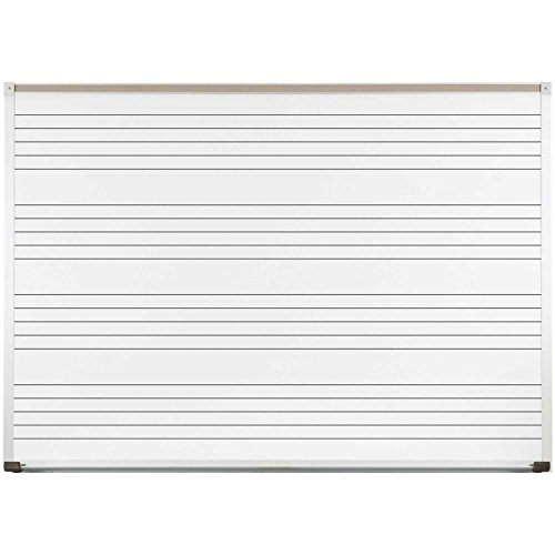 Balt Porcelain Markerboard with Music Lines, White, 72 x 48 (Line Markerboard)