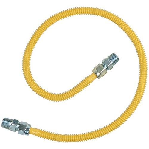BRASSCRAFT CSSD44-36 Gas Range & Gas Furnace Flex-Line (1/2'' OD x 36'', 1/2'' MIP x 1/2'' MIP, Up to 71,100 BTU)