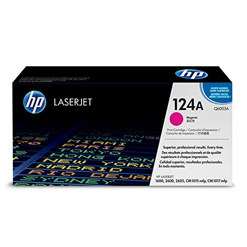HP 124A (Q6003A) Magenta Toner Cartridge for HP Color LaserJet 2600n 1600 2605 1015 1017