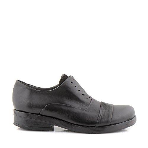 Felmini - Zapatos para Mujer - Enamorarse com Sprit 9851 - Calzado Derby - Cuero Genuino - Negro Negro