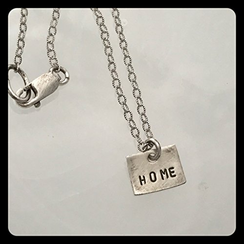 """Colorado State Sterling Silver Necklace stamped """"HOME"""" 18 inches from Allison Eastman Britt"""
