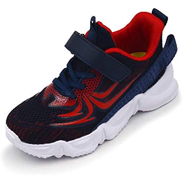 TISGOTAN Boy Shoes Spider Sneaker Breathable Ligthweight Hook and Loop(Toddler,Little/Big Kid)