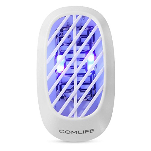 COMLIFE Mini Plug-In Electric Bug Zapper, Indoor Mosquito Killer, Insect Catcher Gnat Trap Fly Zapper, UV Lamp Insect Killer For Home, Office Or Travel by COMLIFE