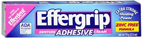 Effergrip Denture Adhesive Cream 2.50 oz (Pack of ()