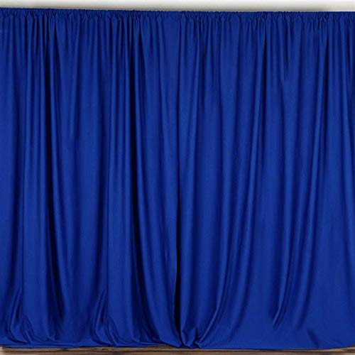 - AK TRADING CO. 10 feet x 10 feet Polyester Backdrop Drapes Curtains Panels with Rod Pockets - Wedding Ceremony Party Home Window Decorations - Royal Blue