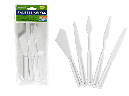 DollarItemDirect 5 pcs Plastic Palette Knives Size: 6 inches L, Case of 144 by DollarItemDirect