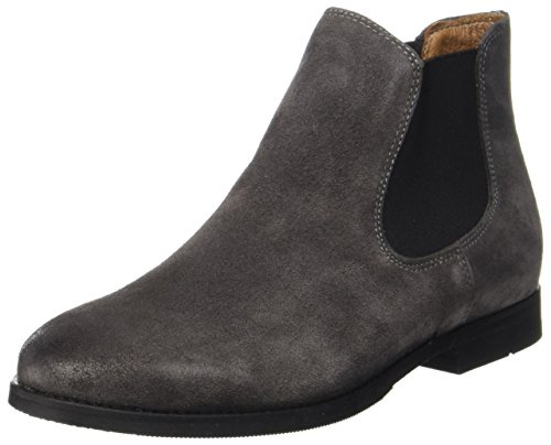 Grey Femme Gris Selected para Mujer Suede Botas Boot Sfbeathe Chelsea HnawqzfC