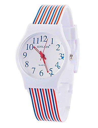 Kids Children Girls Women Teen Watch, 2017 Autumn New Rainbow Stripe Time Teacher Watch Gift (New)