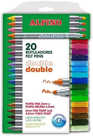 Alpino AR000058 - Estuche de 20 rotuladores, colores surtidos: Amazon.es: Oficina y papelería