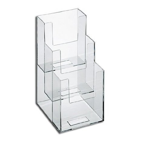 Dazzling Displays 3-Tier 4 x 9 Tri-Fold Brochure (Pocket Brochure Holder)
