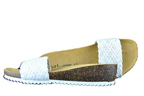 INART...DONNA - Sandalias de vestir de piel sintética para mujer blanco Bianco