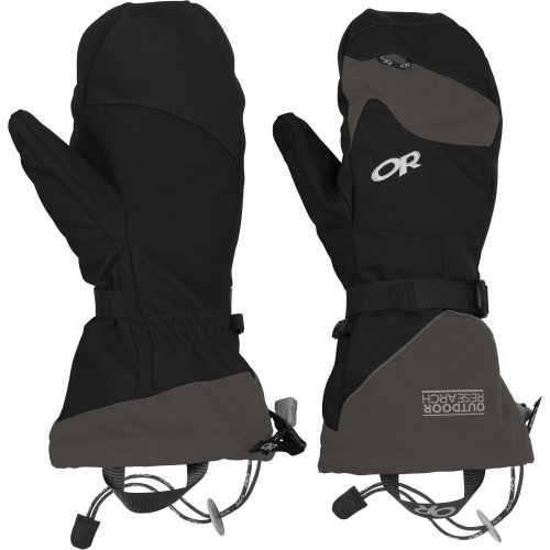 Outdoor Research Meteor Mitts, Black/Charcoal, Medium