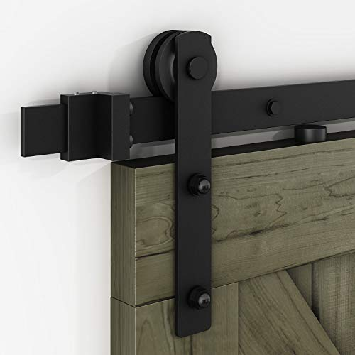 EaseLife 10 FT Heavy Duty Sliding Barn Door Hardware Track Kit-Ultra Hard Sturdy | Sliding Smooth Quiet | Easy Install | Fit 52''~60'' Wide Door | 10 FT Track Single Door Kit by EaseLife (Image #3)
