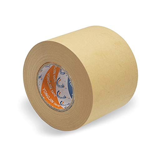 Water-Activated Brown Paper Tape,Kraft Paper Tape for Fixation Picture Framing Writing,Sealing Carton Box Brown Kraft Packaging Machine Shipping Tape,Easy Tear Roll Tape(70mm50M)