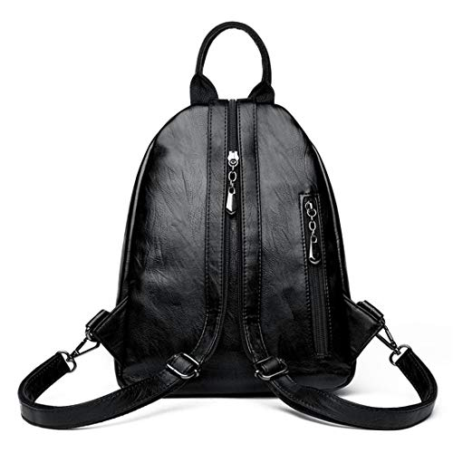 Señoras Para Cuero Mujeres Niñas Black Blue Viaje La Dark Vendimia Backpack Las Bolsa Femenina Mochila De Mochilas Universidad xRYBwqOR