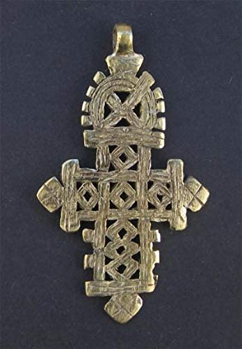 Traditional Ethiopian Coptic Cross Pendant Ethiopia African Jewelry Beads