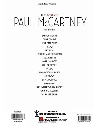 Best Of Paul Mccartney For Easy Piano Paul Mccartney 0073999225488