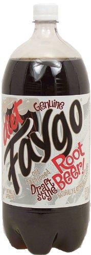Faygo diet root beer, 2-liter plastic bottle