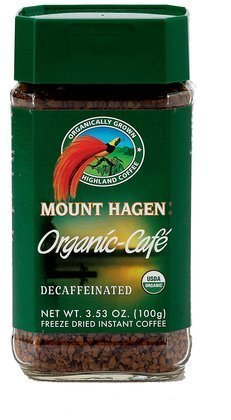 Mount Hagen Organic Freeze Dried Instant Decaffeinated Coffee, 3.53-Ounce Jars (Pack of 6) ( Value Bulk Multi-pack)