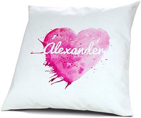 Funda de almohada con nombre de Alexander - diseño de esquí ...
