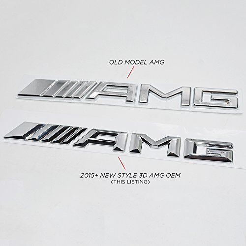 New style mercedes benz amg emblem 3d abs black trunk logo for Mercedes benz trunk emblem