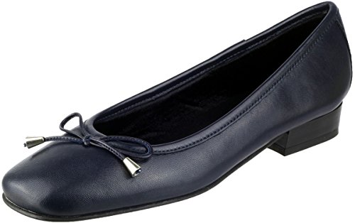 scarpe Blu donna donna Provence per Blu da pelle da Ballerine Riva in OZqFp0wPP