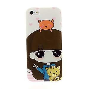 conseguir Serie de la muchacha encantadora caso de la cubierta suave de TPU para el iPhone 5/5S