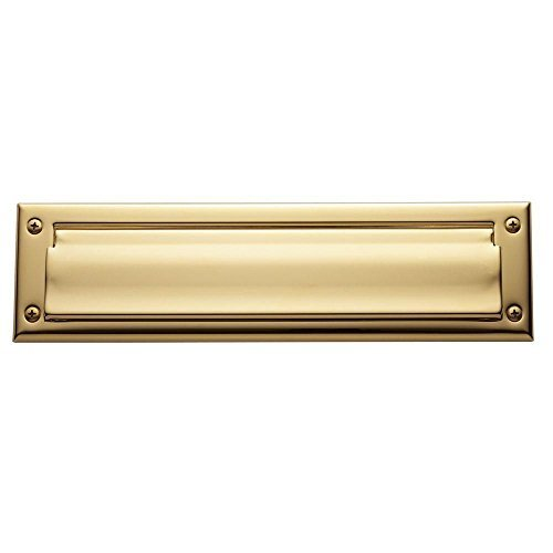 Baldwin 0012.003 13-Inch x 3.625-Inch Letter Box Plate, Lifetime Polished Brass by Baldwin