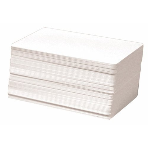 AIRSUNNY 100 CR80 30Mil White Blank PVC Plastic Cards for Photo ID card Printers(DataCard, Zebra, Fargo, Evolis, Magicard, (Blank White Pvc Cards)