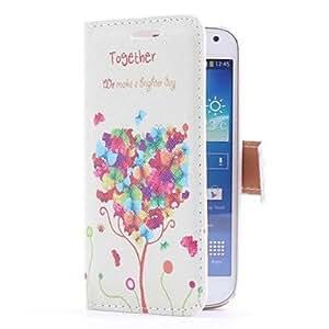 GDW Teléfono Móvil Samsung - Cobertor Posterior/Fundas con Soporte - Diseño Especial - para Samsung S4 Mini I9190 ( Multi-color , Cuero PU )