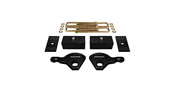 1.5 Rear Lift Blocks Supreme Suspensions Full Lift Kit for 1987-2004 Dodge Dakota Adjustable 1 to 3 Front Lift Torsion Keys Pro Comp ES Series Shocks 4WD Square Bend U-Bolts