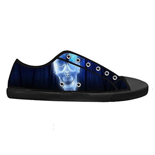 Custom skull Mens Canvas shoes Schuhe Lace-up High-top Sneakers Segeltuchschuhe Leinwand-Schuh-Turnschuhe A