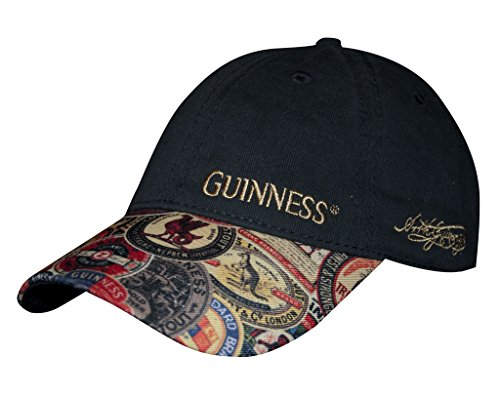 Guinness Washed Vintage Label Baseball Cap Black