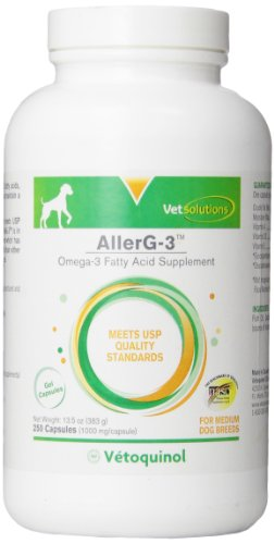 Vetoquinol 410496 AllerG-3 Capsules and Liquid,250 ct