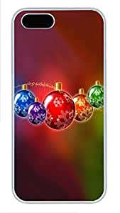 iPhone 5 5S Case Several Christmas decoration ball PC Custom iPhone 5 5S Case Cover White