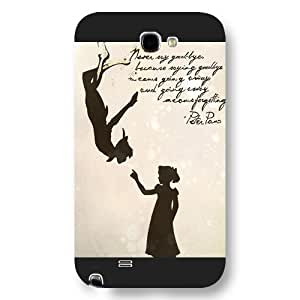 Customized Black Frosted Disney Cartoon Peter Pan Samsung Galaxy Note 2 Case