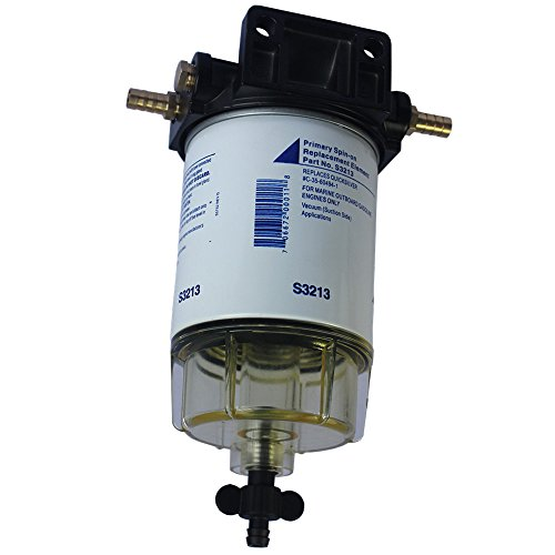 CARMOCAR Water Separating Fuel Filter System for outboard Motors (3/8