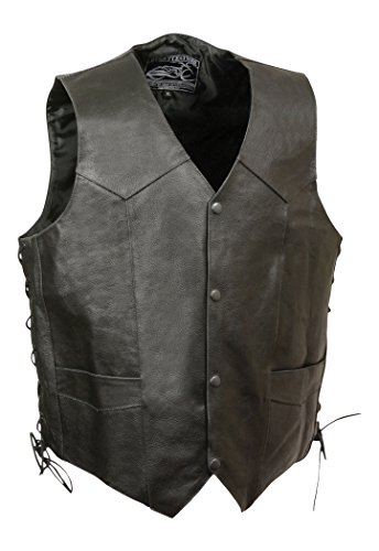 Event Leather Men's Eagle/Flag Vest (Black, XX-Large)