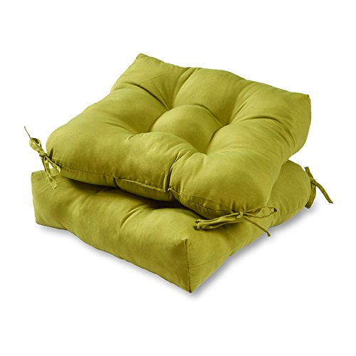 - Greendale Home Fashions 20-inch Outdoor Chair Cushion (set of 2), Kiwi
