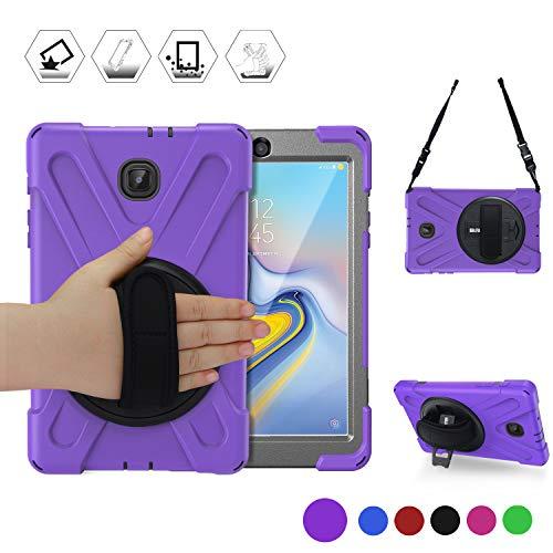Samsung Tab A 8.0 2018 Tablet Case,SM-T387V Case, BRAECN [Rotatable Kickstand/Handle+Attachable Shoulder Strap] Heavy…